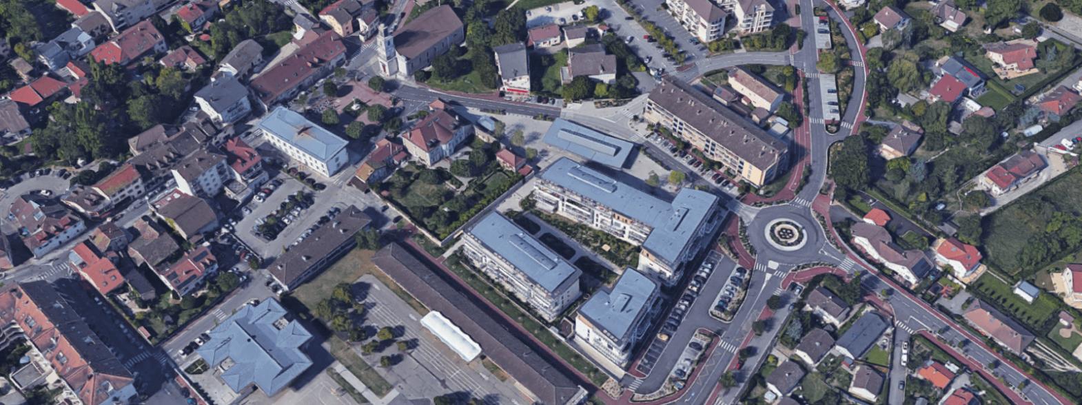 Vue aérienne du site Perdtemps