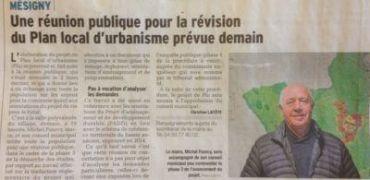 Réunion publique PLU Mésigny (74)