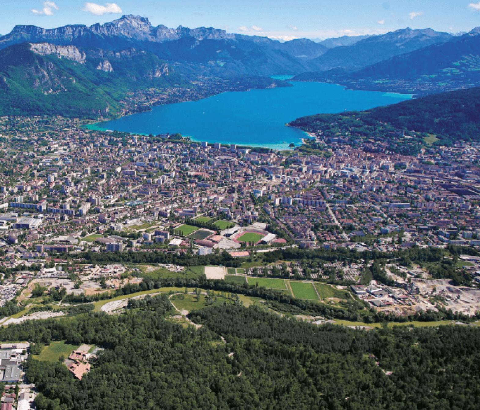 Vue aérienne Annecy