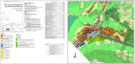 Plan de zonage du centre-bourg