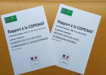 Avis favorable de la CDPENAF pour les PLU du Grand-Bornand et d'Evires